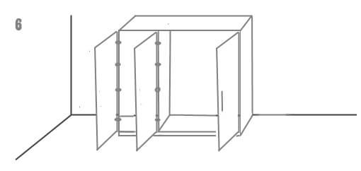 схема установки шкафа 6