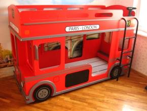 сборка детской кровати автобус
