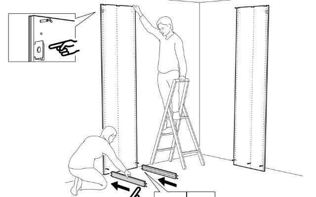 установка цоколя в панель