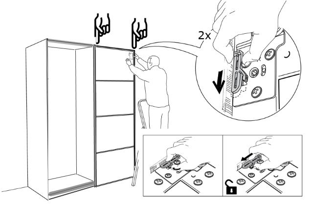 открытие замка в ролике на внутренней двери