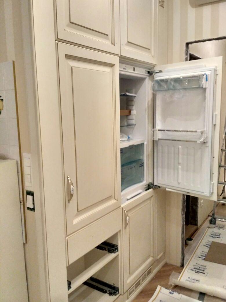шкаф для холодильника фото