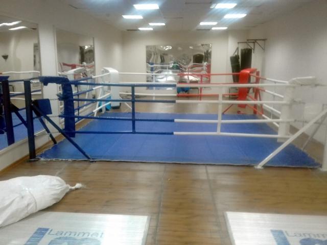 Боксерский ринг установлен