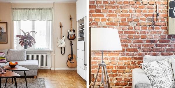 скандинавский стиль в помещении