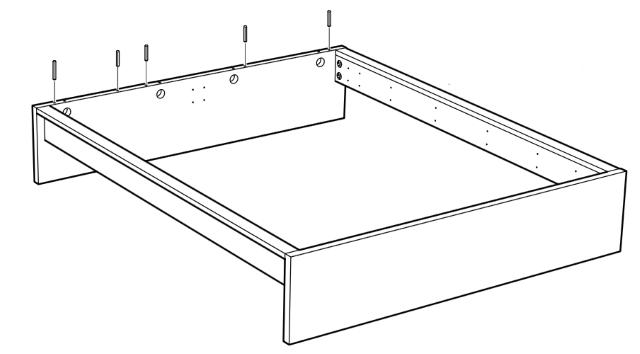 соединение деталей кровати