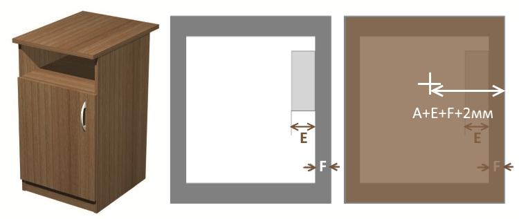 схема установки мебельного замка на внешнюю дверь