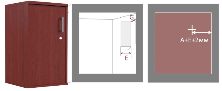 схема врезки мебельного замка в внутреннюю дверь