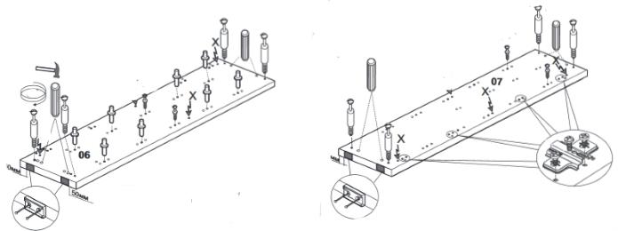 установка фурнитуры на боковыны