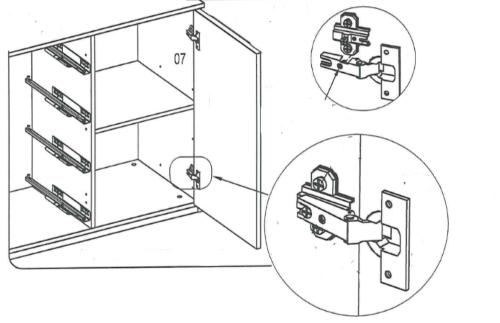 навеска двери на комод