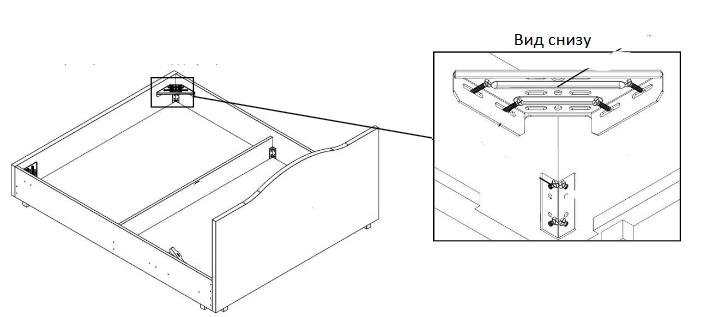 установка опорных уголков в кровати