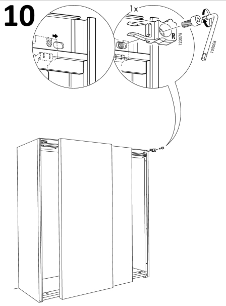 установка правого модуля