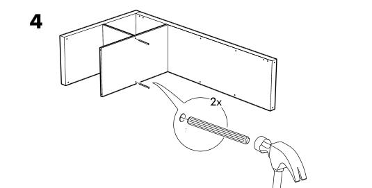 инструкция установки шканта икеа
