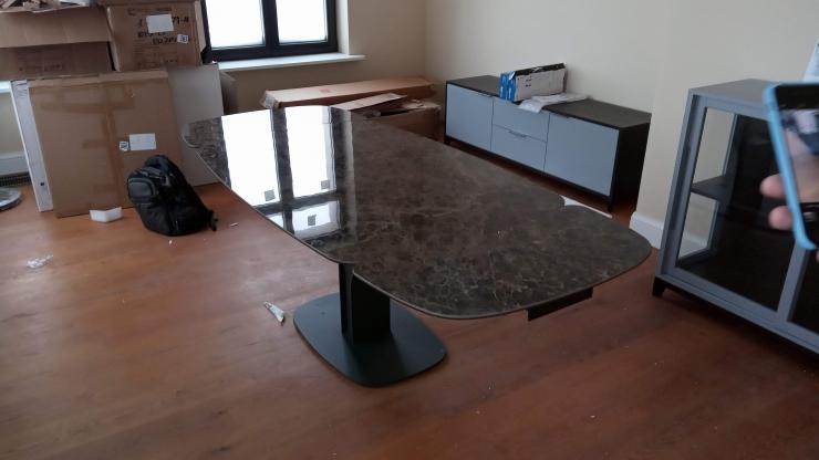 собранный стол