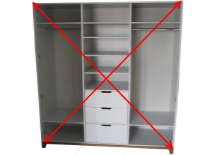 диагональ в корпусе шкафа